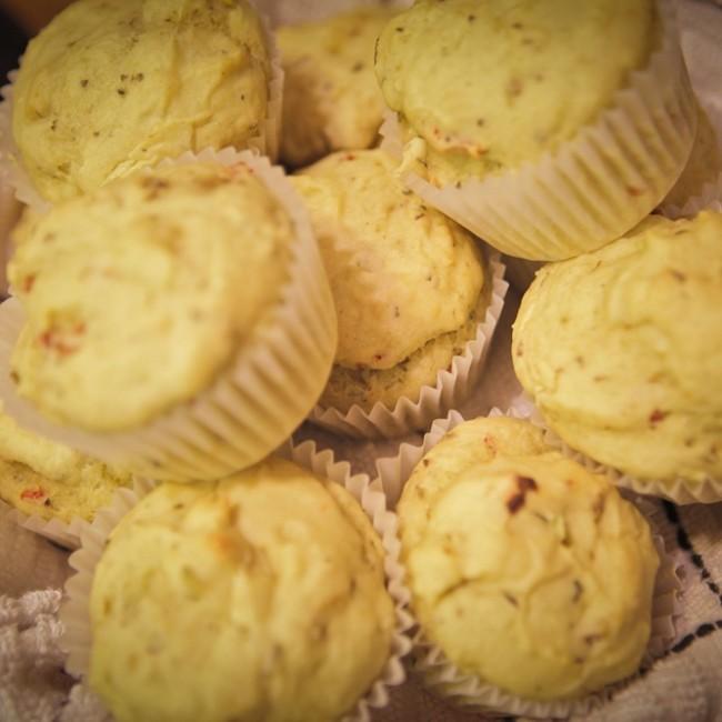 Sun-Dried Tomato Avocado Muffins 1