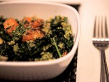 The Whole Carrot (aka Carrot, Parsnip, Kale, and White Bean Quinoa Bowl w/Carrot-Top Pesto)