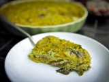 Lemony Mustard Green &amp; Potato Crustless Quiche
