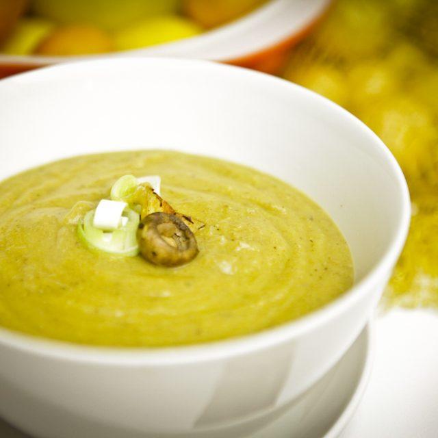 Leeky Roasted Mushroom & Potato Soup
