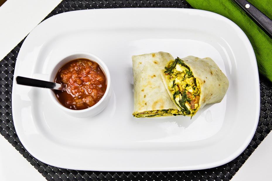 Mizuna Tofu Scramble Burrito 2