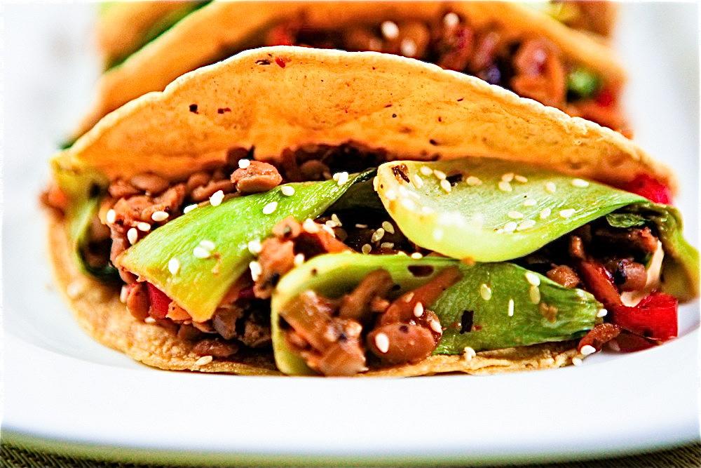 Bok Choy Tempeh Tacos 2