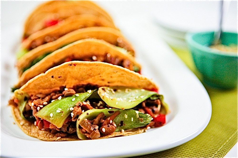 Bok Choy Tempeh Tacos 3