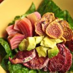 Two-Timin' Candy Beet Salad and a Socca