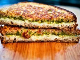 Grilled Pesto & Chèvre Sandwich