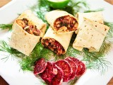 Fennel, White Bean & Chard Wrap with Sour Cream