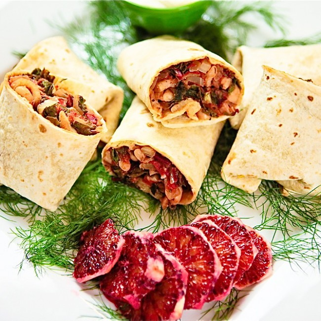 Fennel, White Bean & Chard Wraps
