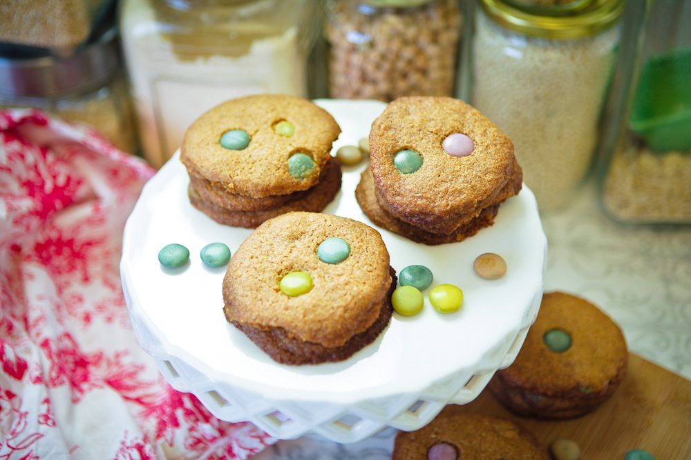 Vegan M&M Cookies