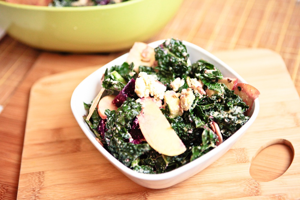 ABC Kale Salad (a.k.a. Apple, Beet & Chèvre Kale Salad) |