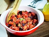 Virtual Vegan Potluck: Sweet Potato &amp; Beet Salad with Saffron Citronette