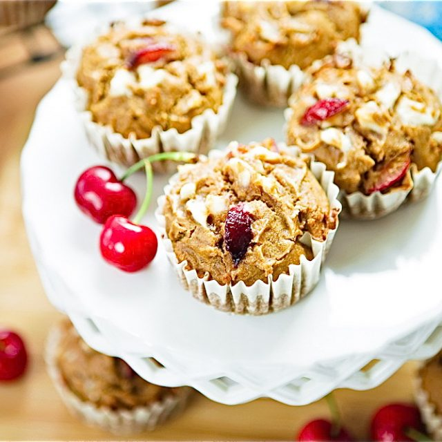Cherry Cheesecake Muffins