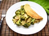 Chilla (Chickpea Omelet) with Maple-Roasted Cheezy Broccoli