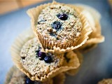Blueberry Quinoa Bran Muffins