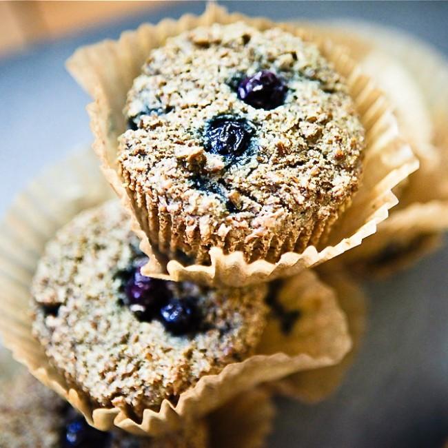 Blueberry Quinoa Bran Muffins