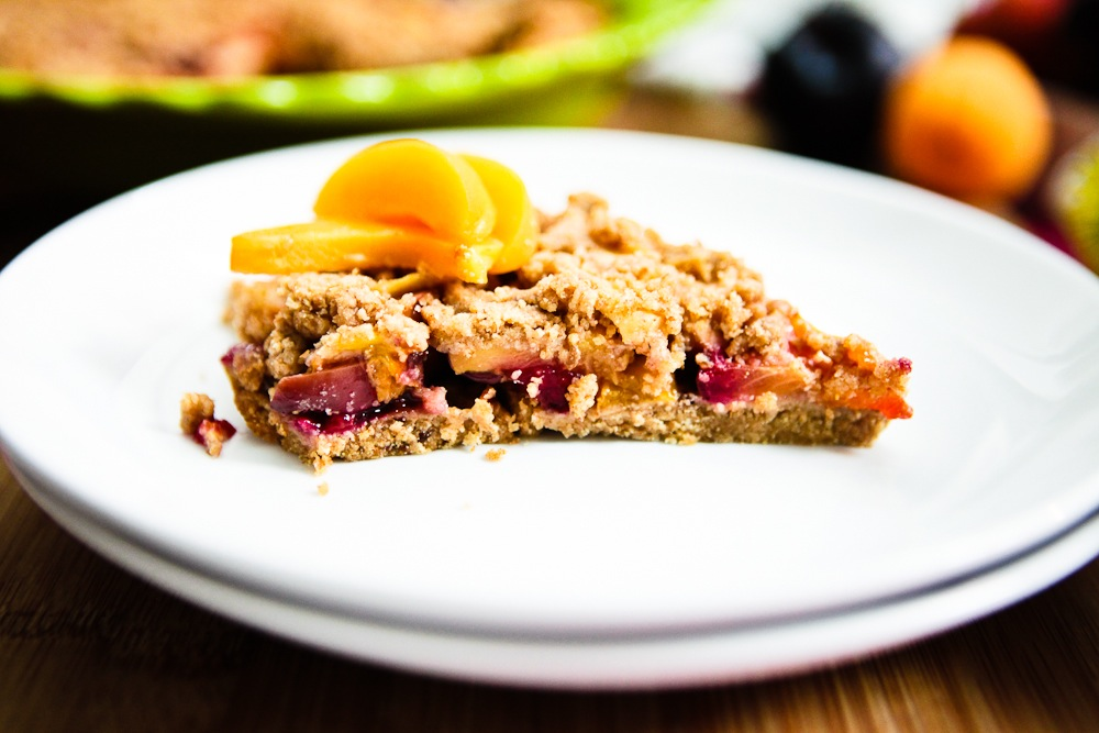 Stone Fruit Cobbler Bars