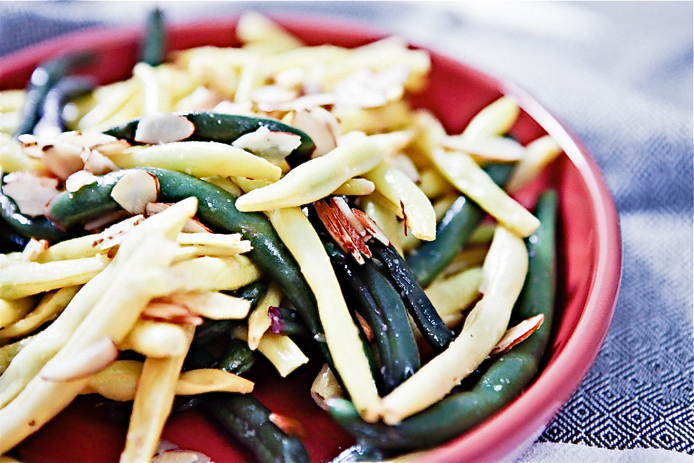 Buttery Lemon Almond Green Beans