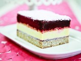 "Sweet & Salty Ice Cream Layer Cake (a.k.a ""Balsamic Beet Sorbet, Mango Lassi Ice Cream, Salted Maple Caramel Crunch, Coconut Pound Cake"" Layer Cake)"