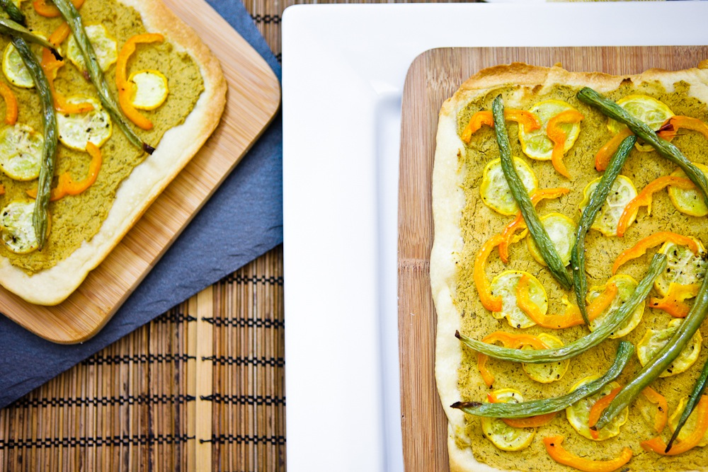 Lemon Herb Hummus Pizza