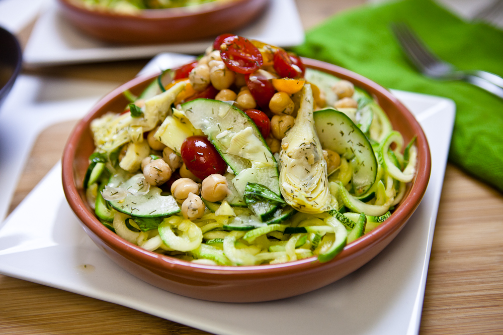 Mediterranean pasta with zucchini recipe