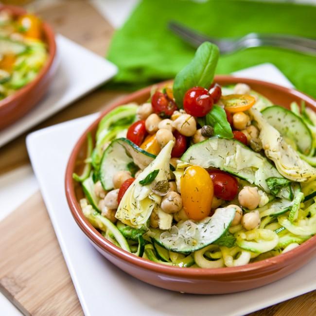 Mediterranean Zucchini Pasta Salad 7