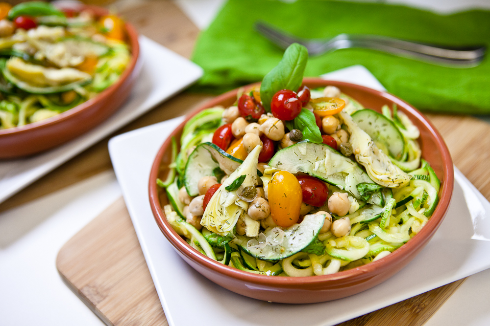 Zucchini And Almond Pasta Salad Recipe — Dishmaps