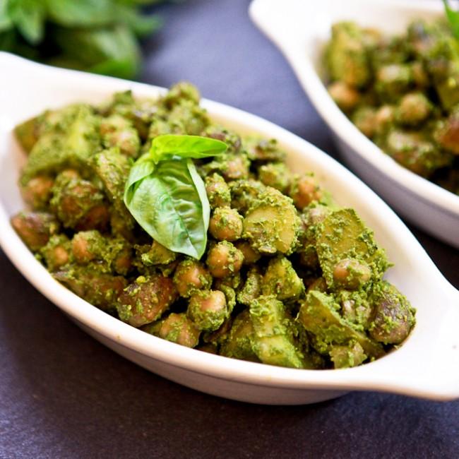 Pesto Potato Chickpea Salad 1