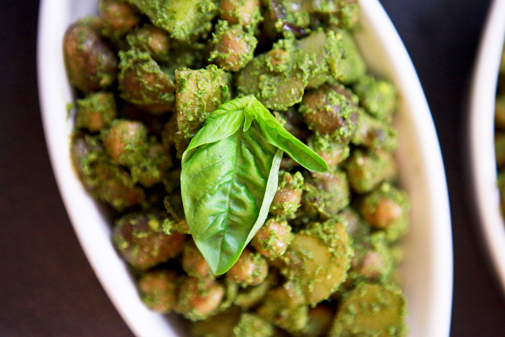 Pesto Potato Chickpea Salad