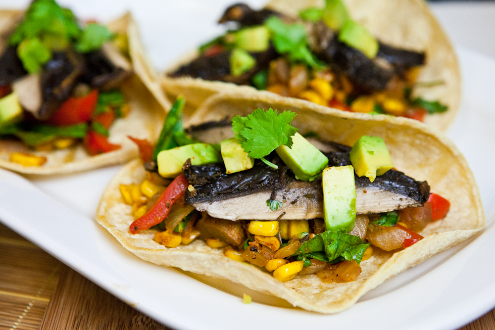 Roasted Portobello Soft Tacos