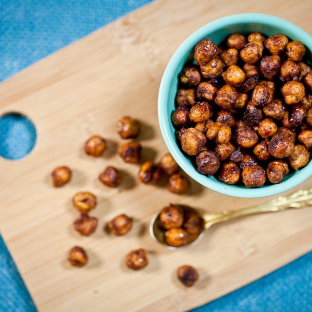 Maple-Glazed Cinnamon Roasted Chickpeas