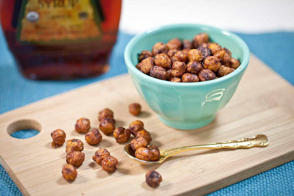 Maple-Glazed Cinnamon Roasted Chickpeas