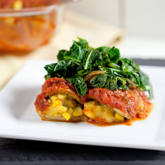 Eggplant Cannelloni with Bravo Tomato Sauce
