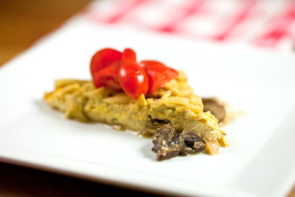 Mushroom Cheddar Frittata - Keepin' It Kind