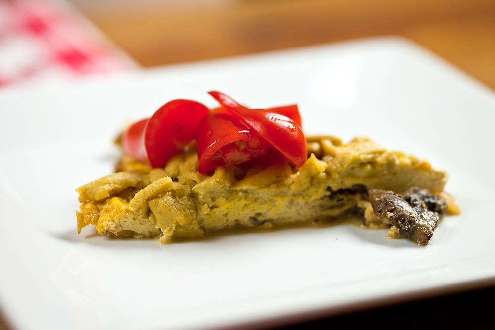 Mushroom Cheddar Frittata - Keepin' It Kind
