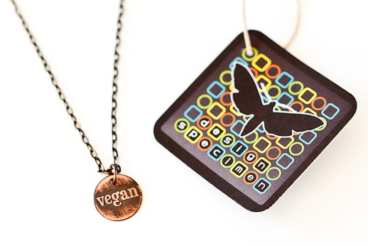 Design Specimen Necklaces and My Veganversary