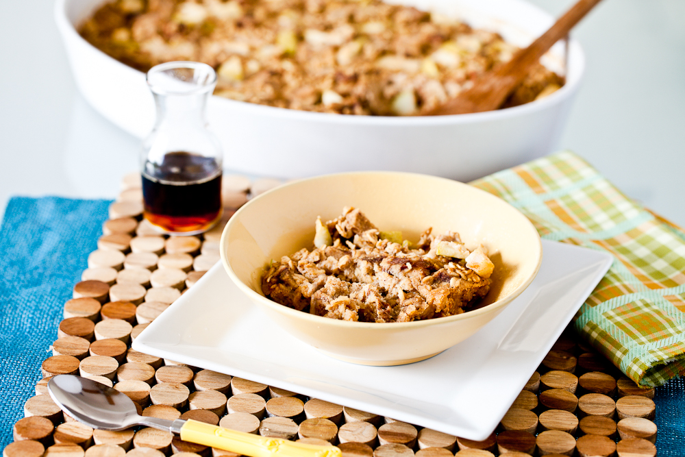 Baked Apple Cinnamon French Toast Oatmeal