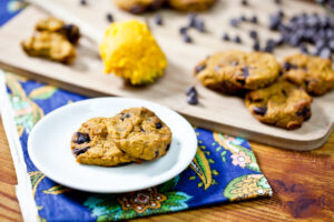 Flourless Pumpkin Chocolate Chip Cookies 5