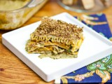 Butternut &amp; Wild Mushroom Lasagna with Pecan Parmesan