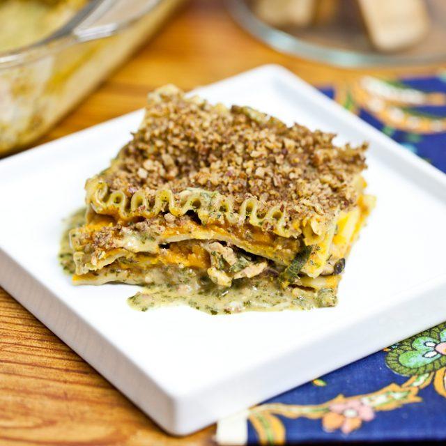 Butternut & Wild Mushroom Lasagna with Pecan Parmesan 1