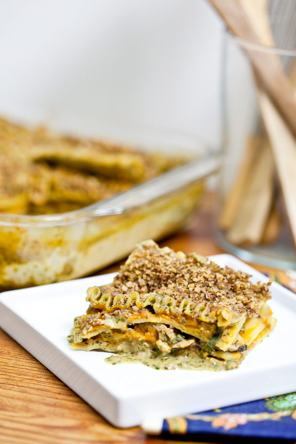 Guest Post: Butternut & Wild Mushroom Lasagna with Pecan Parmesan