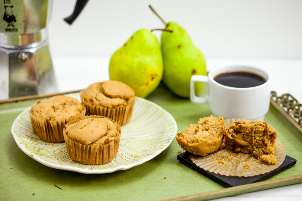 Caramelized Pear Muffins - Keepin' It Kind