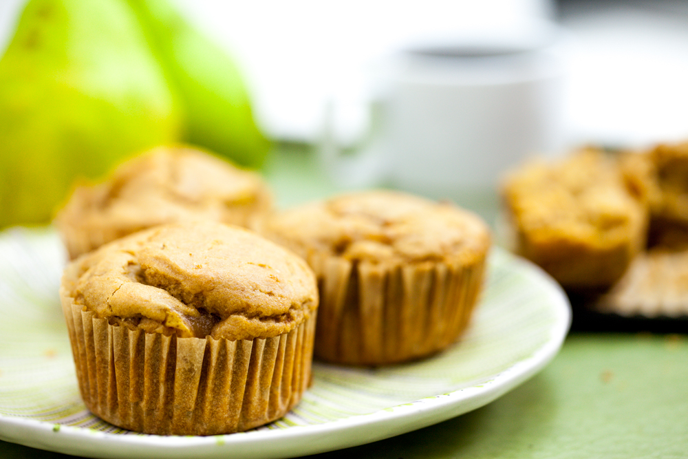Caramelized Pear Muffins