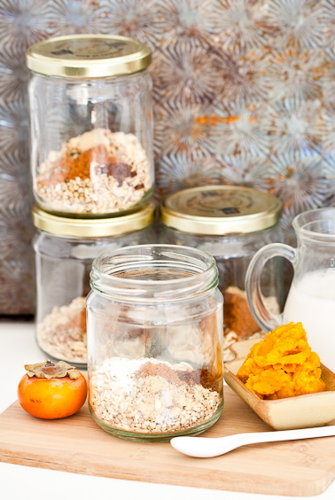 Pumpkin Persimmon Overnight Oats