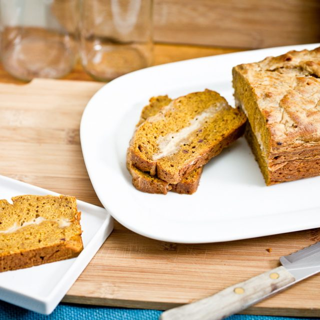 Pumpkin Cream Cheese Bread 4