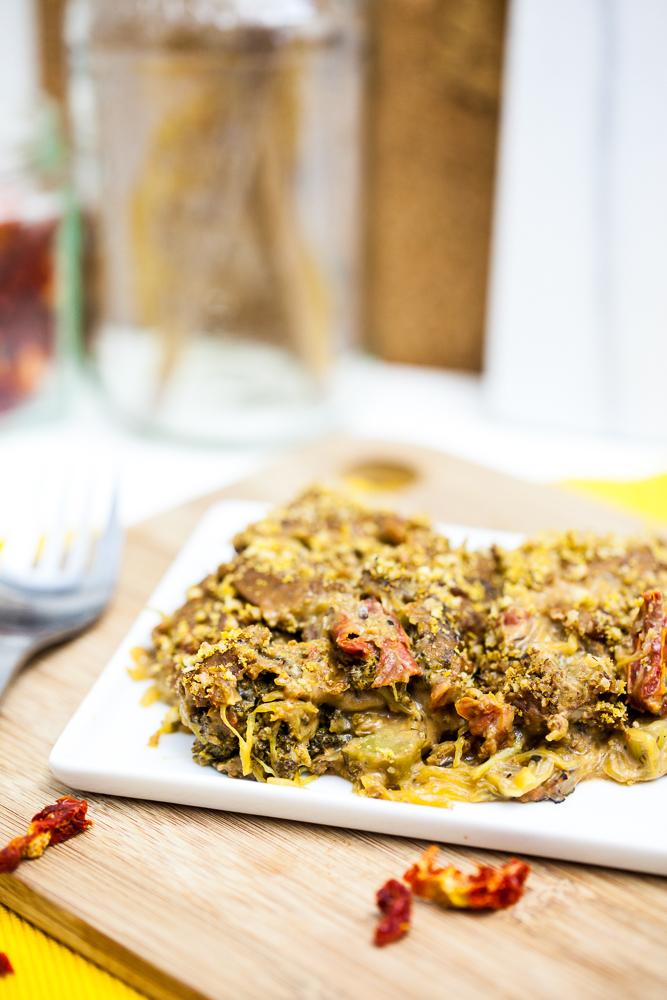 Cheesy Broccoli Spaghetti Squash Casserole