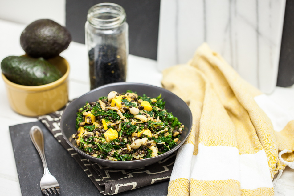 Beluga Lentil & Farro Kale Salad