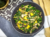 Beluga Lentil &amp; Farro Kale Salad