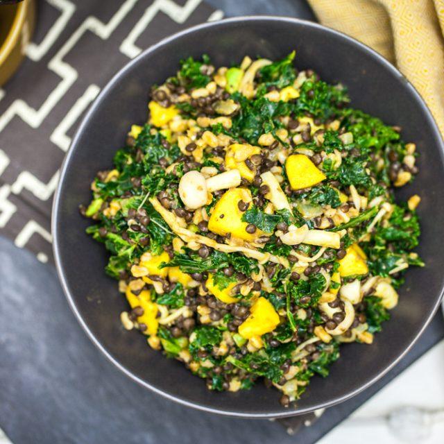 Beluga Lentil & Farro Kale Salad 6