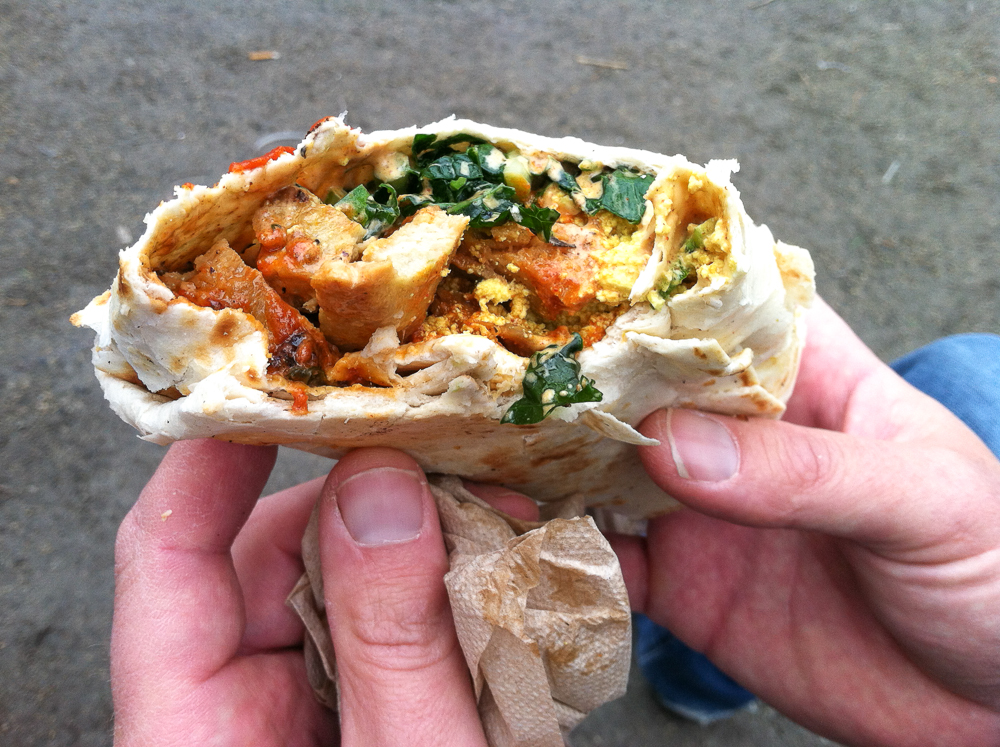The Cinnamon Snail Breakfast Burrito