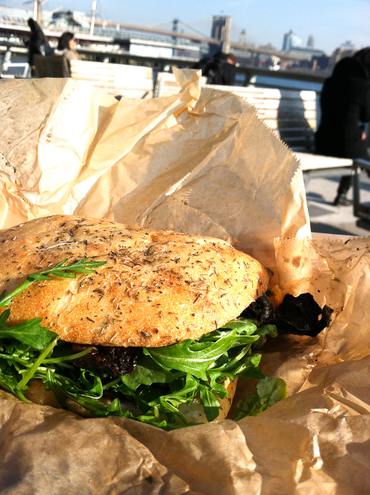The Cinnamon Snail Portobello Carpaccio Sandwich