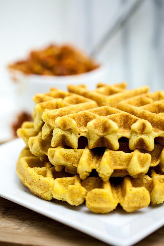 Cheesy Cornbread Waffles